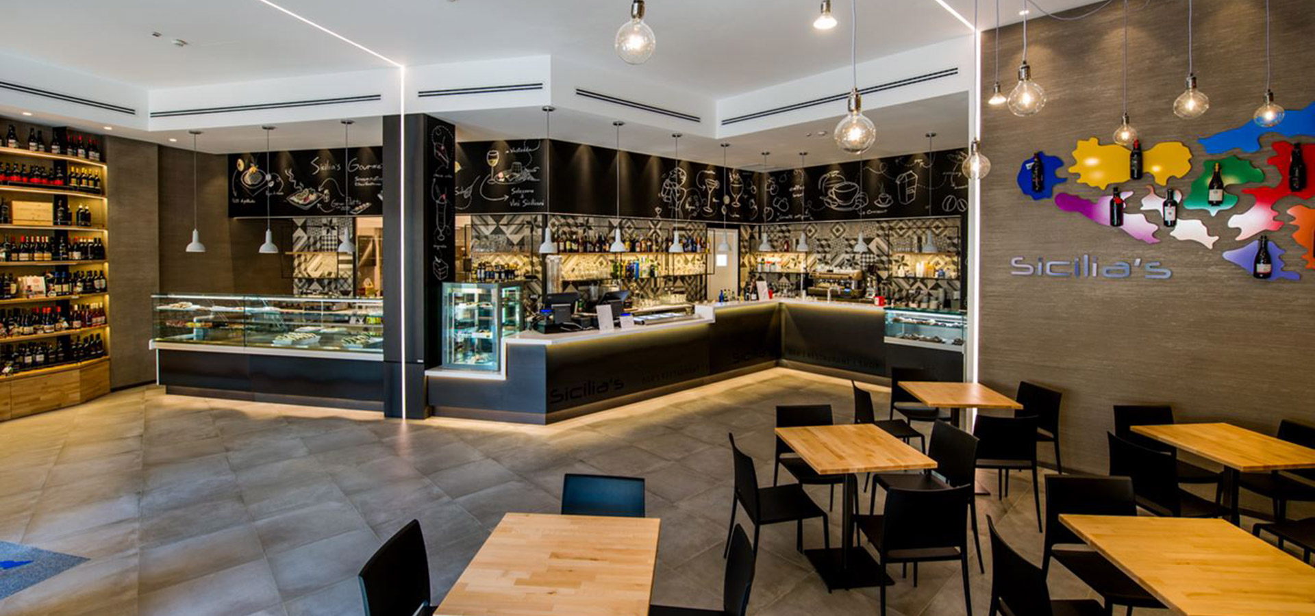 Sicilia 39 s bar restaurant shop aeroporto outlet village milano for Negozi di arredamento catania